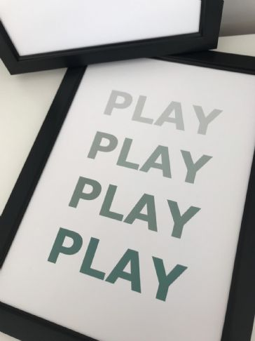 PLAY PLAY PLAY PLAY (GREEN A4)